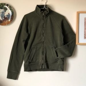 Columbia | olive green zip-up sweater - size Small